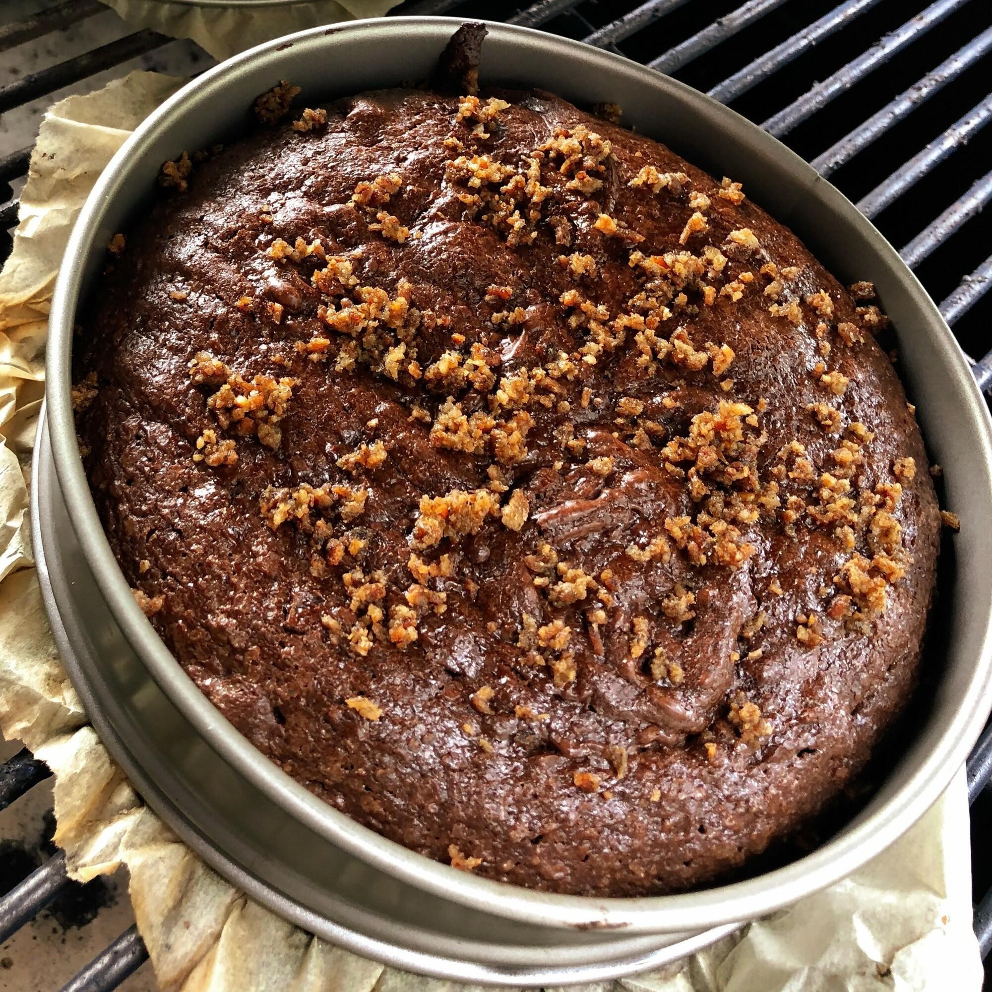 Chocolate brownie met shabu shabu